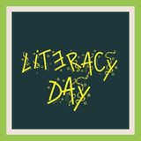 International Literacy Day. Royalty Free Stock Photos