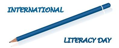 International literacy day, september 8. Celebration card International literacy day, september 8 Stock Images