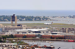 international logan boston авиапорта стоковые изображения rf