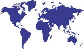 International map. Vector of blue international map Stock Photos