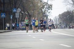 International Marathon in Kharkov, Ukraine, April 9, 2016 Royalty Free Stock Images