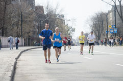 International Marathon in Kharkov, Ukraine, April 9, 2016 Royalty Free Stock Photography