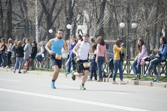 International Marathon in Kharkov, Ukraine, April 9, 2016 Royalty Free Stock Photo