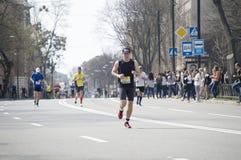 International Marathon in Kharkov, Ukraine, April 9, 2016 Stock Photos