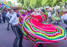 International Mariachi & Charros festival. GUADALAJARA , MEXICO - AUG 28 : Participants in a parde during the 23rd International Mariachi & Charros festival Royalty Free Stock Image