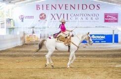 International Mariachi & Charros festival. GUADALAJARA , MEXICO - SEP 01 : Charra participates at the 23rd International Mariachi & Charros festival in royalty free stock photography
