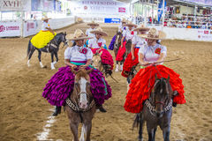 International Mariachi & Charros festival. GUADALAJARA , MEXICO - SEP 01 : Charras participate at the 23rd International Mariachi & Charros festival in Royalty Free Stock Image