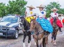 International Mariachi & Charros festival. GUADALAJARA , MEXICO - SEP 01 : Charras participate at the 23rd International Mariachi & Charros festival in stock photos