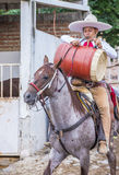 International Mariachi & Charros festival. GUADALAJARA , MEXICO - SEP 01 : Charro participates at the 23rd International Mariachi & Charros festival in royalty free stock image
