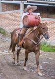 International Mariachi & Charros festival. GUADALAJARA , MEXICO - SEP 01 : Charro participates at the 23rd International Mariachi & Charros festival in stock photography