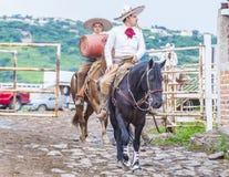 International Mariachi & Charros festival. GUADALAJARA , MEXICO - SEP 01 : Charros participate at the 23rd International Mariachi & Charros festival in stock photo
