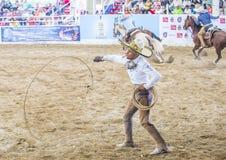 International Mariachi & Charros festival. GUADALAJARA , MEXICO - SEP 01 : Charros participate at the 23rd International Mariachi & Charros festival in royalty free stock photos