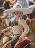 International Mariachi & Charros festival. GUADALAJARA , MEXICO - SEP 01 : Young charro participates at the 23rd International Mariachi & Charros festival in stock photography