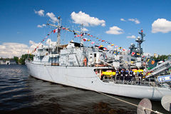 International Maritime Defence Show in St. Petersb Royalty Free Stock Photos