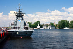 International Maritime Defence Show in St. Petersb Royalty Free Stock Photo