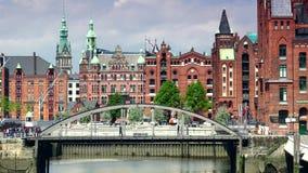 International Maritimes Museum in Hamburg Speicherstadt and Hafencity district stock footage