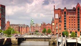 International Maritimes Museum in Hamburg Speicherstadt and Hafencity district stock video footage