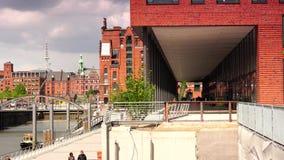 International Maritimes Museum in Hamburg Speicherstadt and Hafencity district stock video