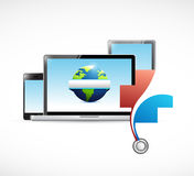 International medical network concept illustration. Design isolated over white Royalty Free Stock Image