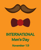 International men day, november 19. Celebration card of International men day, november 19 Stock Photos