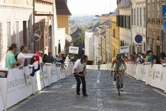 Tour of Croatia race winner of stage 6 Paolo Simion Royalty Free Stock Photo