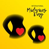 International Midwives Day. Illustration of a Background For International Midwives Day vector illustration