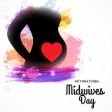International Midwives Day. Illustration of a Background For International Midwives Day stock illustration
