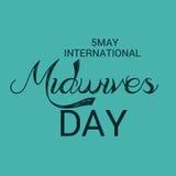 International Midwives Day. Vector illustration of a Banner for International Midwives Day royalty free illustration