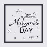 International Midwives Day. Vector illustration of a Banner for International Midwives Day stock illustration