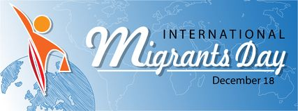 International migrants day background stock illustration