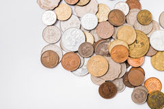 International mixed coins Royalty Free Stock Photos