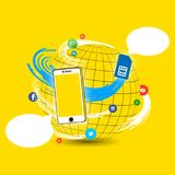 International Mobile Telecommunication Roaming stock illustration