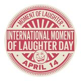 International Moment of Laughter Day. April 14, rubber stamp, vector Illustration Stock Photography