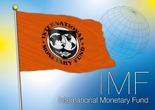 International monetary fund flag, editorial Royalty Free Stock Image
