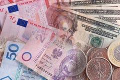 International money collage Royalty Free Stock Photography