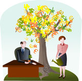 International money tree Royalty Free Stock Photography