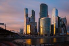 international moscow делового центра стоковые изображения rf