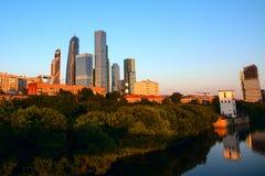 international moscow делового центра Стоковая Фотография RF