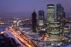 international moscow för affärsmitt Arkivbilder