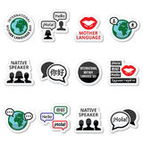 International Mother Language Day icons set Stock Photography