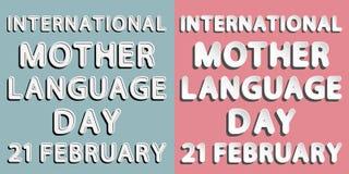 International mother language day Stock Photos
