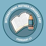 International Mother Language Day. Vector illustration. Stock Photos