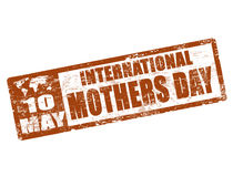 International mothers day stamp Royalty Free Stock Photo