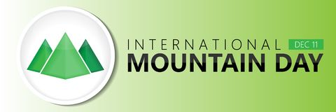 International mountain day background. International mountain day on December 11 background Royalty Free Stock Image