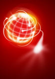 International movements. Worldwide financial movements as shooting stars Stock Images