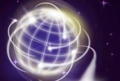 International movements. Worldwide financial movements as shooting stars Royalty Free Stock Image