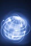 International movements. Worldwide financial movements as shooting stars Royalty Free Stock Photo