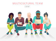 International multicultural team. Royalty Free Stock Photos