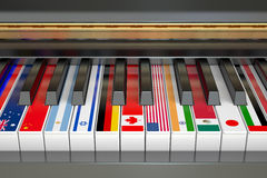 International Music Competition concept Royalty Free Stock Images