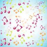 International Music Day.Multicolor 3D music background Stock Photo